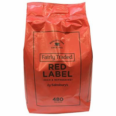 Sainsbury's Red Label Black Tea 480 Teabags , Fairly Traded Tea from England