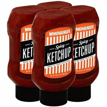(4-PACK) Whataburger Spicy Ketchup - 20oz Bottle