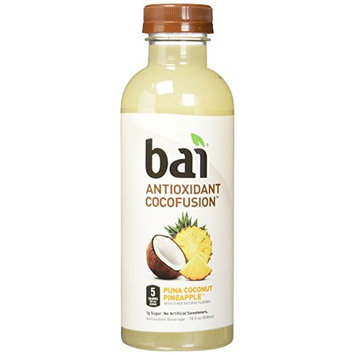 Bai Cocofusions Puna Coconut Pineapple, Antioxidant Infused, Coconut Pineapple Flavored Water Drink, 18 Fluid Ounce Bottles, 6 count [Puna Coconut Pineapple]
