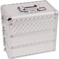 Sunrise Del Prefetto Heavy Duty Makeup Case Professional Nail Travel Organizer Box, Silver Diamond, 10 Pound