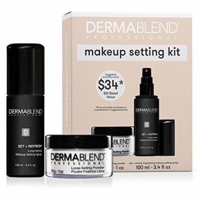 Dermablend Makeup Setting Gift Set with Original Loose Setting Powder and Set + Refresh Makeup Setting Spray