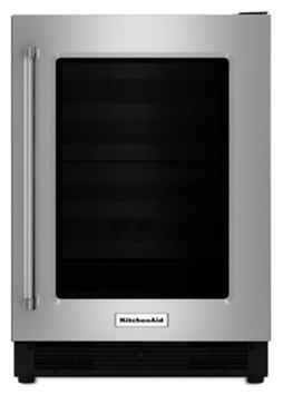 Kitchenaid - 5.1 Cu. Ft. Compact Refrigerator - Black/stainless-steel