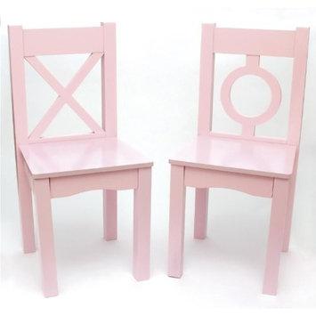 Lipper International 521-2PK Light Pink Childs Chair Set of 2