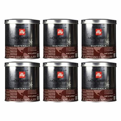 Illy iperEspresso MonoArabica Guatemala Capsules Medium-bodied Coffee, 21-Count Capsule (Pack of 6)