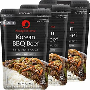 Passage Foods To Korea, Korean Bbq Beef Stir Fry Sauce, 7 Ounce, 3 Count
