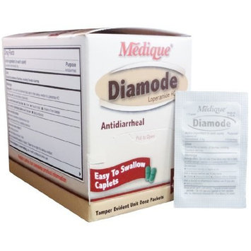 Diamode Anti-Diarrheal Pain Relief Tablets (50 Tab. Per Box) 6 Boxes (300 tablets) by Medique - MS71195