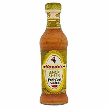 Nando's Peri-Peri Hot Sauces 2 by 9.1 oz LARGE dble Size South African (Lemon & Herb)