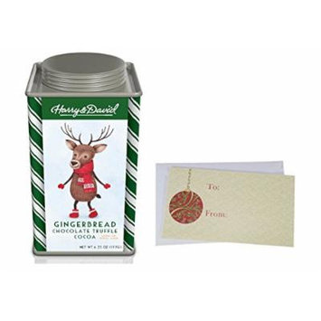 Hot Chocolate Cocoa mix for Christmas Holiday, Harry & David Moose Munch, Candy Cane and Gingerbread Chocolate Truffle, Butter White Choc., 6.25 oz. Gift Tin. (Gingerbread Cocoa)
