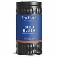 Tea Forté BLEU BLUSH Butterfly Pea Blue Herbal Tea with Organic Chamomile, Lemon and Rose Petal, Loose Leaf Tea Tin, 2.29 oz Canister