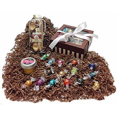 Autumn Gift Box - Lindt Lindor Gourmet Chocolate Truffles, Potpourri & Candle (TE)