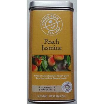 Coffee Bean & Tea Leaf - Peach Jasmine (Flavored Green Tea) 20 Tea Bags
