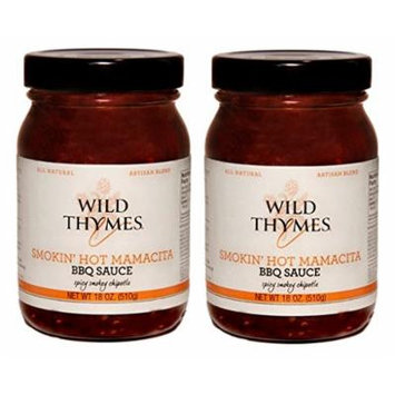Smokin' HOT Mamacita Wild Thymes' BBQ Sauce, 18 oz (Pack of 2)