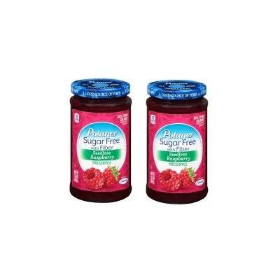 Polaner Sugar Free Seedless Raspberry With Fiber, 13.5 Oz (Pack of 2)