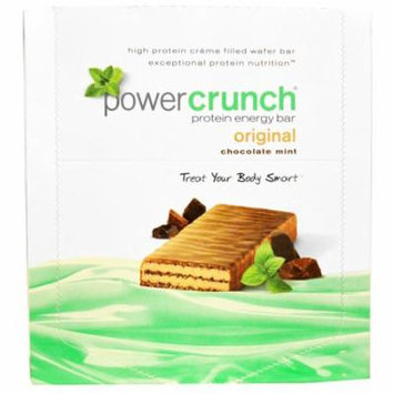 BNRG, Power Crunch Protein Energy Bar, Original, Chocolate Mint, 12 Bars, 1.4 oz (40 g) Each(pack of 2)