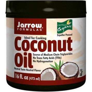 Jarrow Formulas, Organic Coconut Oil, 16 oz (pack of 2)