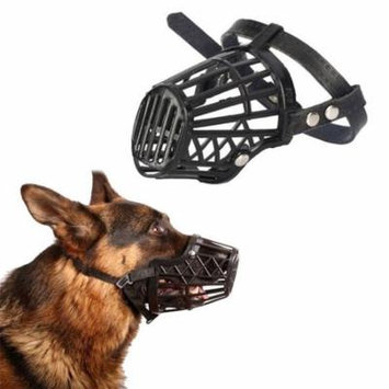 Durable Leather Lightweight & Washable Adjustable Basket Mouth Muzzle Cover For Dog Training Bark Bite Chew Control