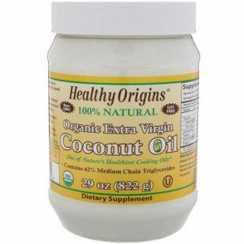 Healthy Origins, Organic Extra Virgin Coconut Oil, 29 oz (pack of 6)