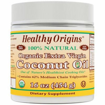 Healthy Origins, Organic Extra Virgin Coconut Oil, 16 oz(pack of 3)