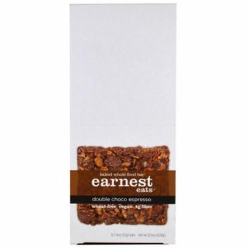 Earnest Eats, Baked Whole Food Bar, Double Choco Espresso, 12 Bars, 1.8 oz (52 g) Each(pack of 2)