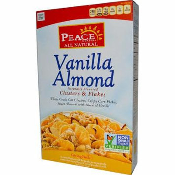 Peace Cereal, Clusters & Flakes, Vanilla Almond, 11 oz (pack of 1)