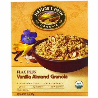 Nature's Path, Organic, Flax Plus, Vanilla Almond Granola Cereal, 11.5 oz (pack of 1)