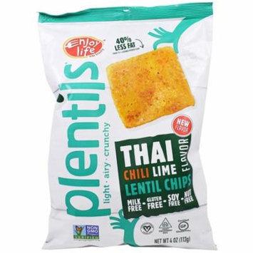 Enjoy Life Foods, Plentils, Lentil Chips, Thai Chili Lime Flavor, 4 oz (pack of 4)