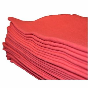 Elaine Karen Towels Auto Shop Towels, 50 Pack, Red Shop Towels