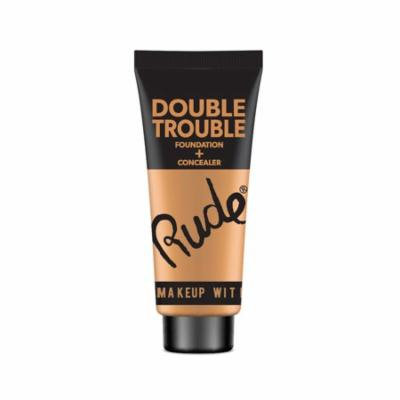 RUDE Double Trouble Foundation + Concealer - Tan