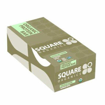 Square Organics, Organic Protein Bar, Chocolate Coated Almond Spice, 12 Bars, 1.7 oz (48 g) Each(pack of 2)