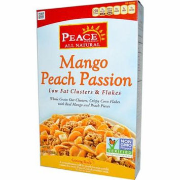 Peace Cereal, Low Fat Clusters & Flakes, Mango Peach Passion, 10 oz (pack of 1)