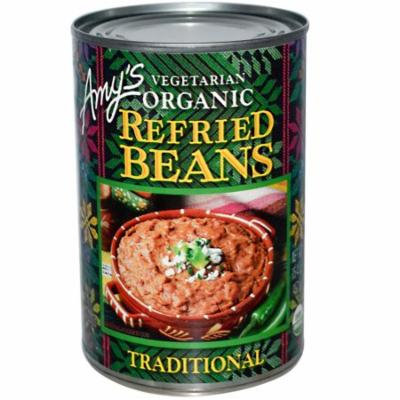 Amy's, Vegetarian Organic Refried Beans, Traditional, 15.4 oz(pack of 6)