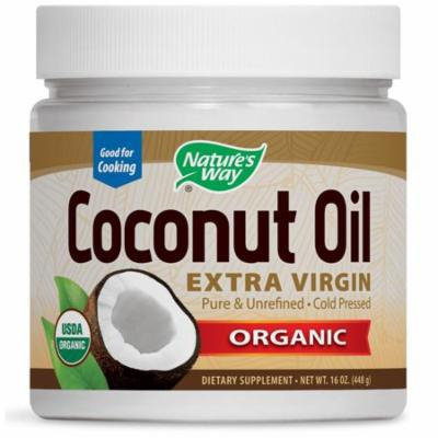 Nature's Way, Organic Coconut Oil, Extra Virgin, 16 oz (pack of 4)