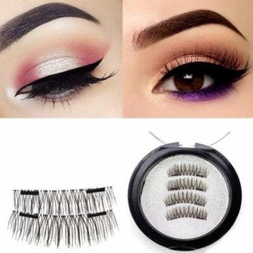Asavea Extra Long Magnetic False Eyelashes, 1 pair (4 piece) Natural Handmade Extension Ultra Thin Fake Magnetic Lashes No Glue