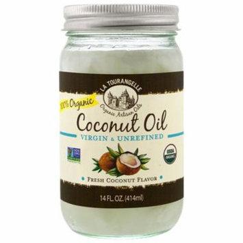 La Tourangelle, Organic Coconut Oil, Virgin & Unrefined, 14 fl oz (pack of 4)