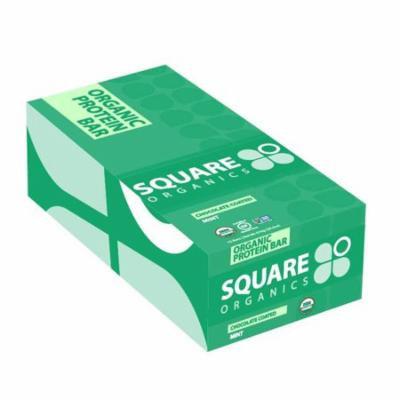 Square Organics, Organic Protein Bar, Chocolate Coated Mint, 12 Bars, 1.7 oz (48 g) Each(pack of 3)