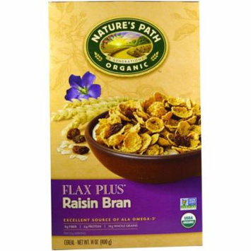 Nature's Path, Organic, Flax Plus, Raisin Bran Cereal, 14 oz (pack of 3)