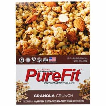Pure Fit Bars, Premium Nutrition Bars, Granola Crunch, 15 Bars, 2 oz (57 g) Each(pack of 2)