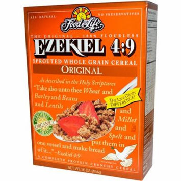 Food For Life, Ezekiel 4:9, Sprouted Whole Grain Cereal, Original, 16 oz (pack of 6)