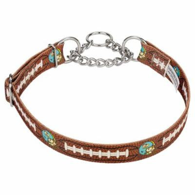 Country Brook Petz™ Football with Jack Half Check Dog Collar Limited Edition