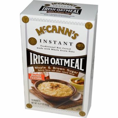 McCann's Irish Oatmeal, Instant Oatmeal, Maple & Brown Sugar, 10 Packets, 43 g Each(pack of 12)