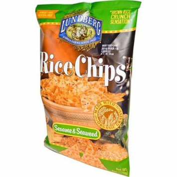 Lundberg, Rice Chips, Sesame & Seaweed, 6 oz (pack of 2)