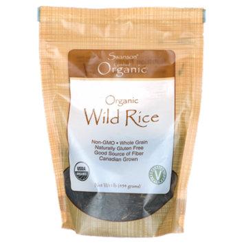 Swanson Organic Wild Rice 1 lb (454 g) Pkg