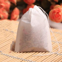 100PCS Tea Bags String Heat Seal Herb Filter Paper For Tea Spice Herbal Powder Empty Draw String Teabags Pouches