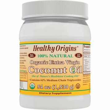 Healthy Origins, Organic Extra Virgin Coconut Oil, 54 oz (pack of 1)