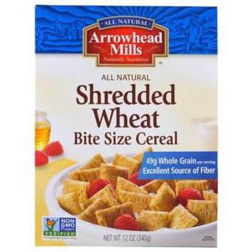 Arrowhead Mills, Shredded Wheat, Bite Size Cereal, 12 oz (pack of 4)
