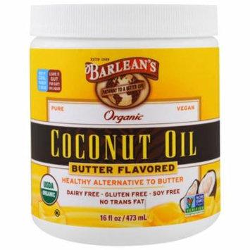 Barlean's, Organic Coconut Oil, Butter Flavored, 16 fl oz (pack of 6)