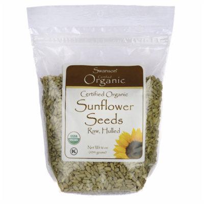 Swanson Certified Organic Sunflower Seeds Raw, Hulled 16 oz (1 lb) (454 g) Pkg