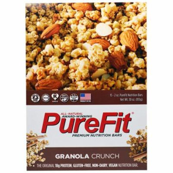 Pure Fit Bars, Premium Nutrition Bars, Granola Crunch, 15 Bars, 2 oz (57 g) Each(pack of 3)