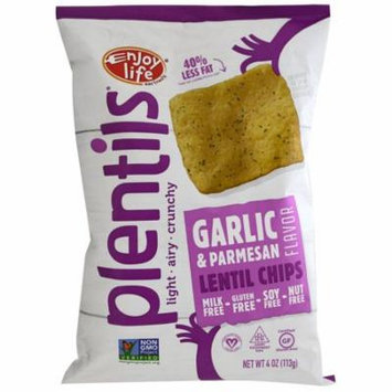 Enjoy Life Foods, Plentils, Lentil Chips, Garlic & Parmesan, 4 oz (pack of 6)