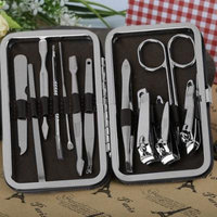 12 in 1 Stainless Steel Nail Clipper Set Pedicure Manicure Tools Set Nail Care Nipper Cutter Cuticle Beauty Suit Kit
